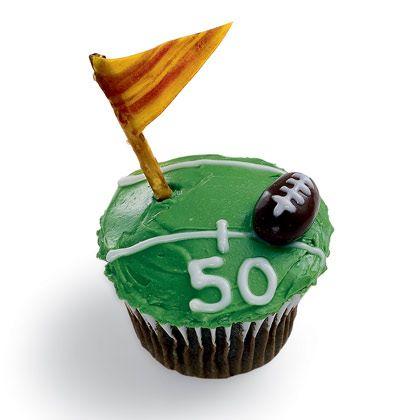 Touchdown Treat: Football Cupcake