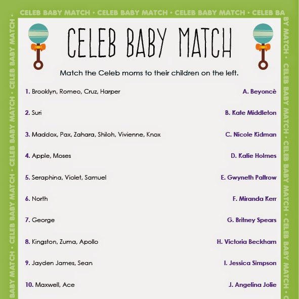 Tinysandtea New Baby Shower Games Trio Set