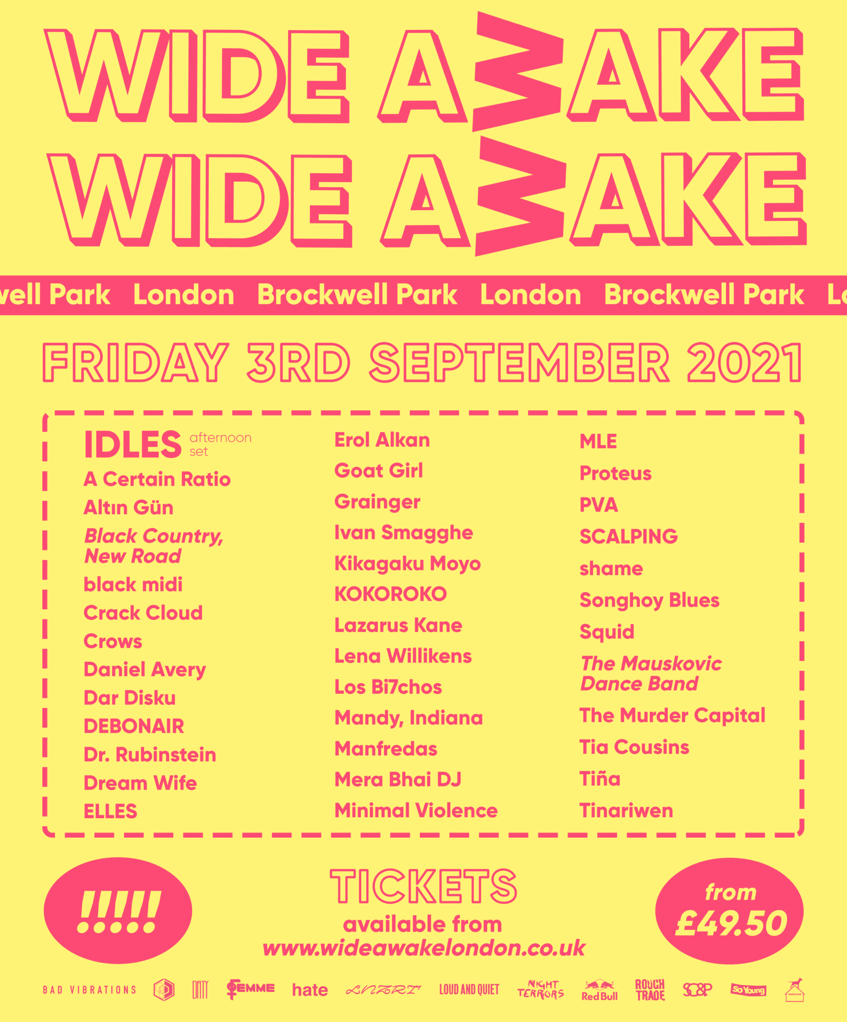 3 Sep 2021, Wide Awake Festival, Brockwell Park, London - ACR Gigography