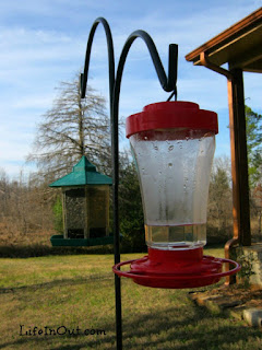 Keep hummingbird feeders clean by using hot water and a brush when it's time to refill the feeder. | LifeInOut.com