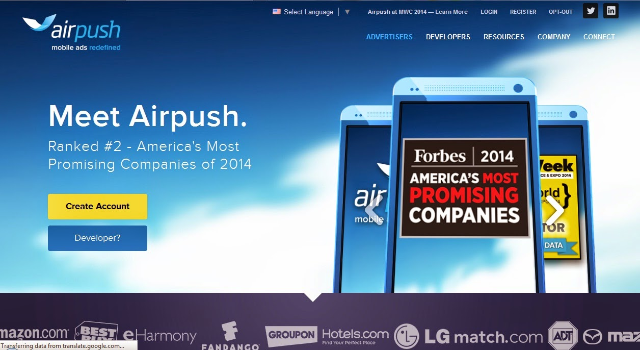 Airpush Official website E Info Book