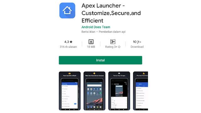 Cara Menyembunyikan Aplikasi di Xiaomi via Apex Launcher