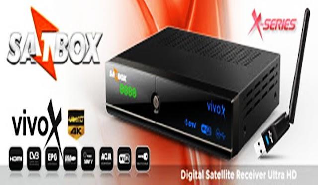 SATBOX VIVO X HD NOVA ATUALIZAÇÃO V1.117 - 25/01/2018