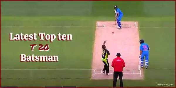 Latest Top Ten T-20 Ranking  Batsman.