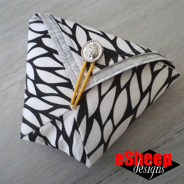 6 Pocket Fabric Origami Pouch by eSheep Designs