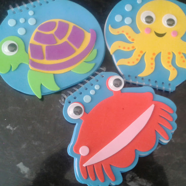 Baker Ross summer holiday crafts,  sealife notepads