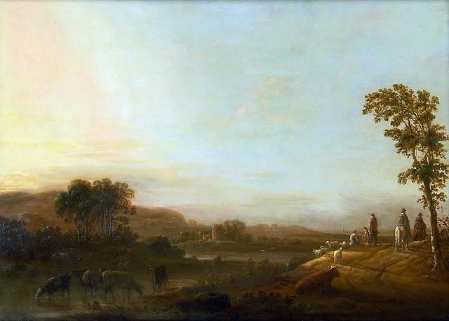 Альберт Кёйп - Пейзаж с водопоем