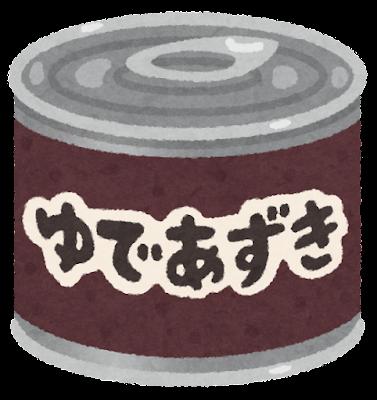あんこの缶詰のイラスト(ゆであずき)