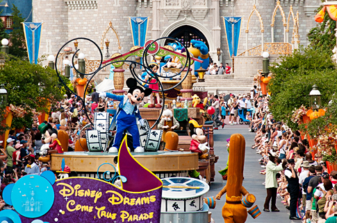 Paradas musicais: Celebrate a Dream Come True e Move it! Shake it! Dance and Play it! no Magic Kingdom