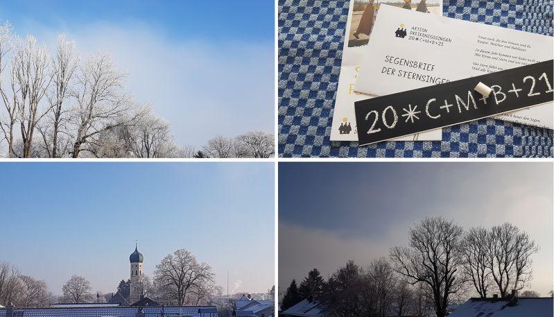 Homeoffice View und Dreikönigssegen Januar 2021