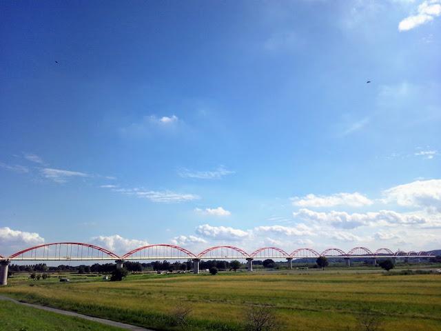 荒川自転車道 荒川水管橋