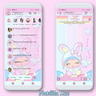 Baby Girl Theme For YOWhatsApp & Aero WhatsApp By Natalia