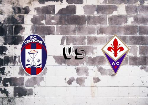 Crotone vs Fiorentina  Resumen
