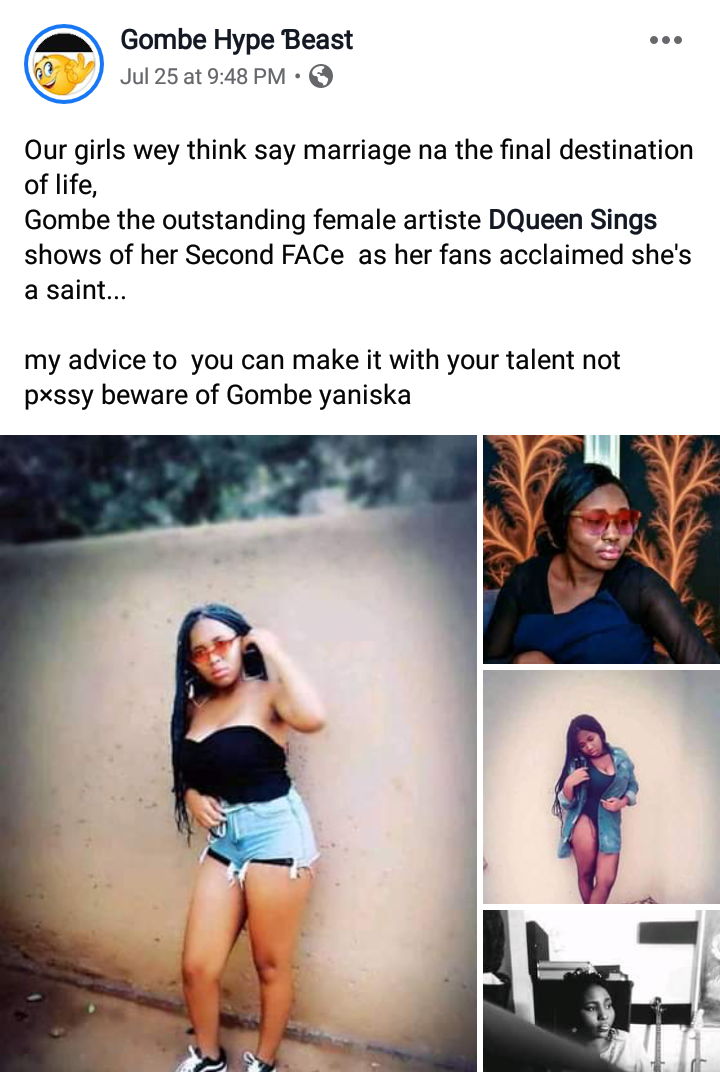 """[Trend] Gombe state Best female artist, """"Dqueen"""" Accused for using her feminism for fame - see photos #Arewapublisize"""