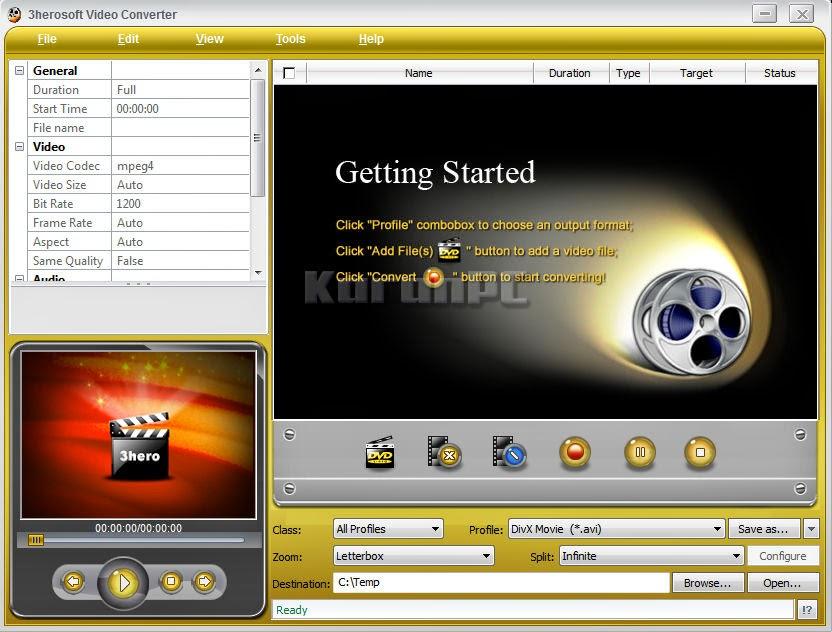 3herosoft Video Converter 4.1.4 Build 0510 + Crack
