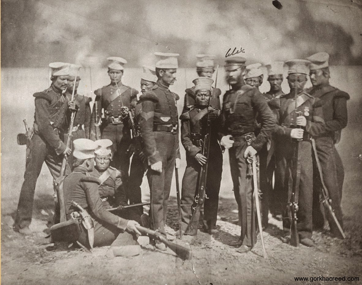The Nusseree Battalion Later Known As The 1st Gurkha or Gorkha Rifles Circa 1857