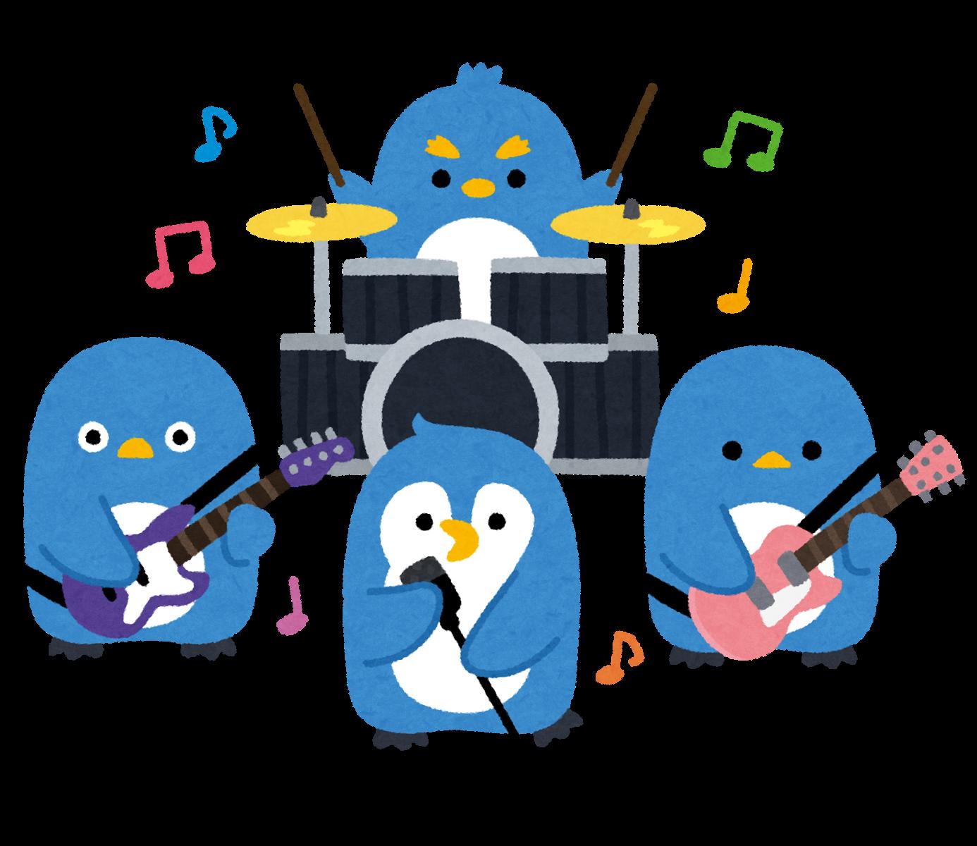 ペンギンのバンドのイラスト かわいいフリー素材集 いらすとや