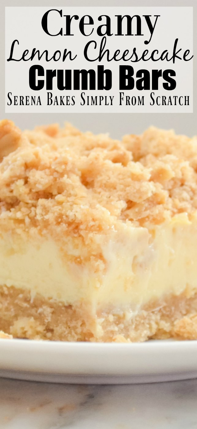 Creamy Lemon Cheesecake Crumb Bars Video
