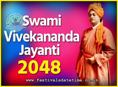 2048 Swami Vivekananda Jayanti Date & Time, 2048 National Youth Day Calendar