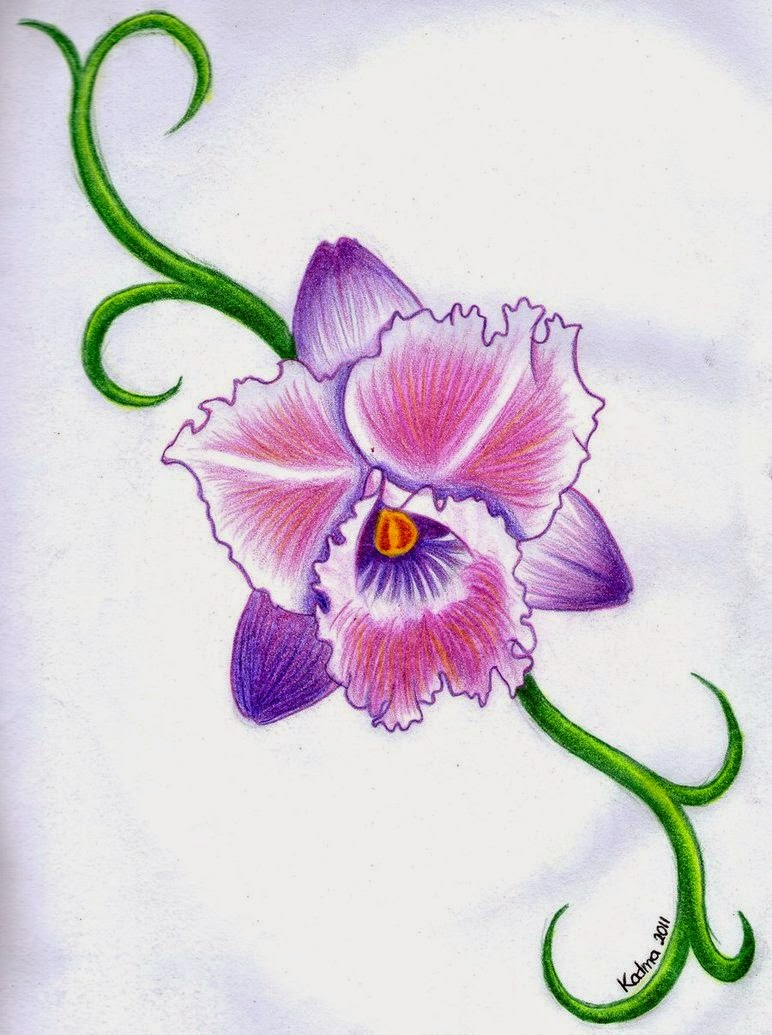 Tatuajes de flores simbolismo e ideas belagoria la for Orchid decor