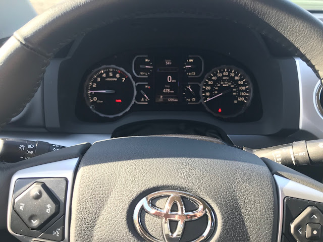 Instrument cluster in 2020 Toyota Tundra TRD Pro CrewMax