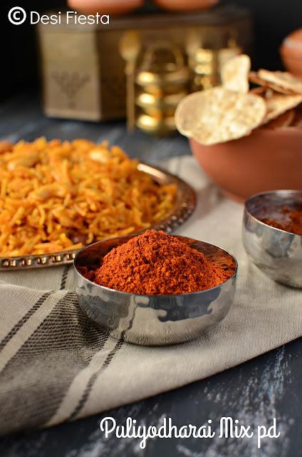 Puliyodharai Mix recipe