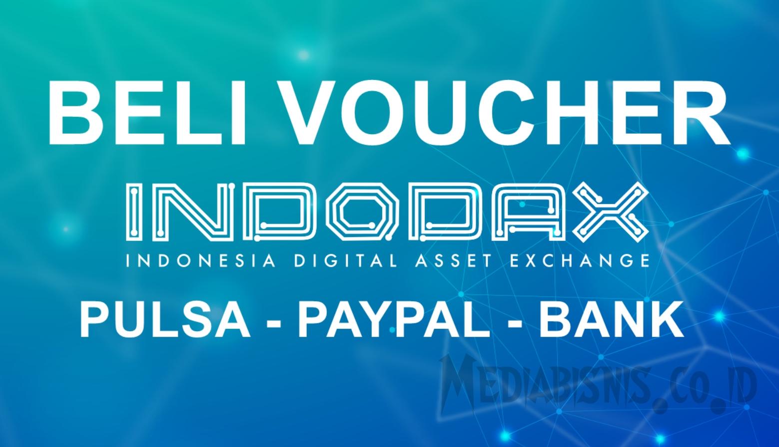 Beli Voucher Indodax via Bank, Pulsa dan Paypal.