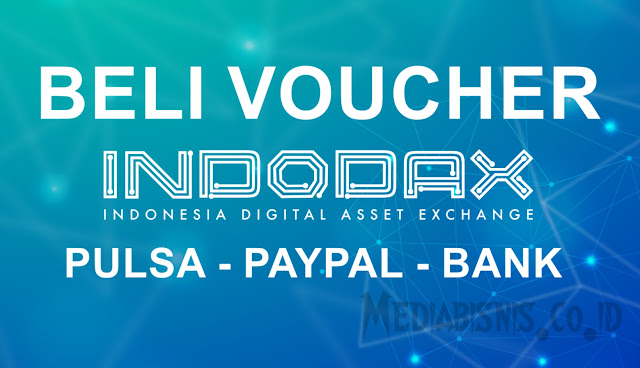 Voucher Indodax via Paypal Pulsa