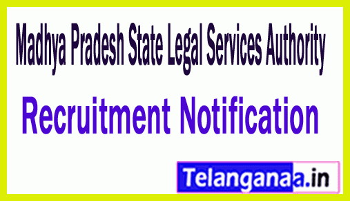 Madhya Pradesh State Legal Services Authority MPSLSA Recruitment