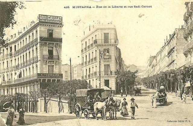 Carte postale de Mustapha, rue de la Liberté et Sadi-Carnot