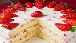 Kumpulan Resep Kue Strawberry Ring Cake