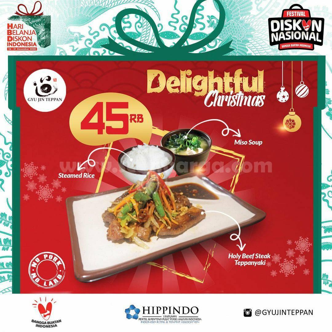GYUJIN TEPPAN Promo Harga Spesial DELIGHTFUL CHRISTMAS Set Menu hanya Rp 45.000