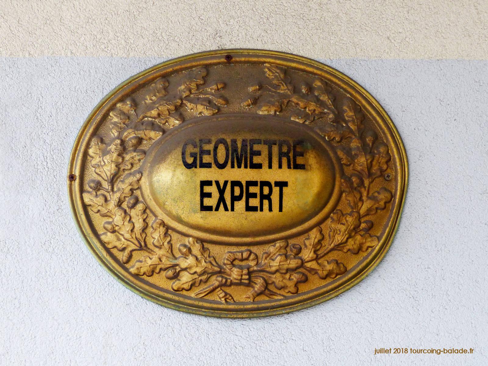 Plaque professionnelle Géomètre Expert
