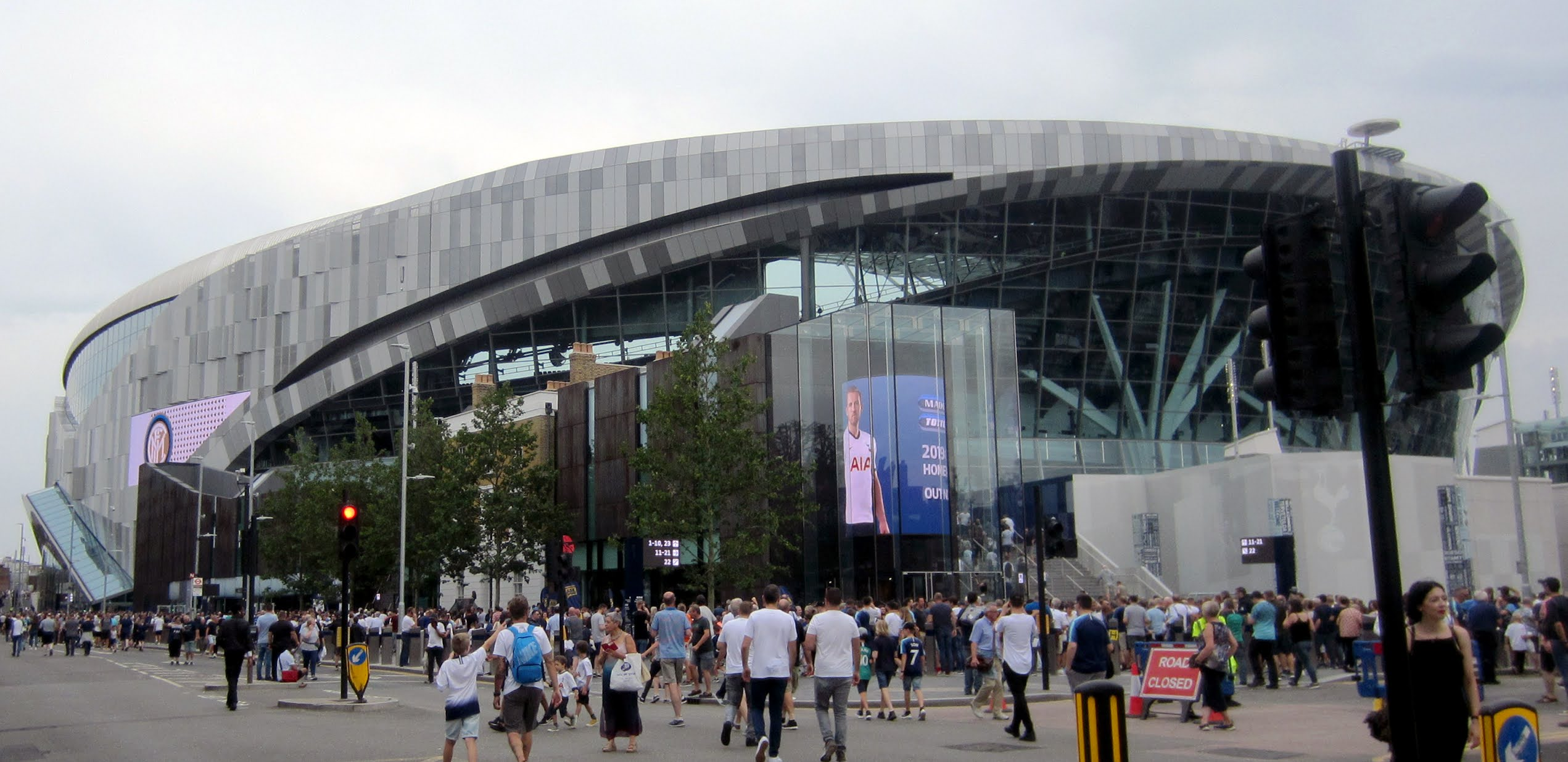 View of the Tottenham Hotspur Stadium from High Road