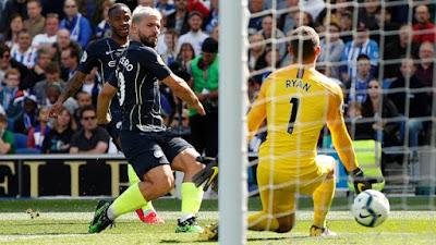 Brighton 1 x 4 Manchester City - Campeonato Inglês 2018/19 rodada 38