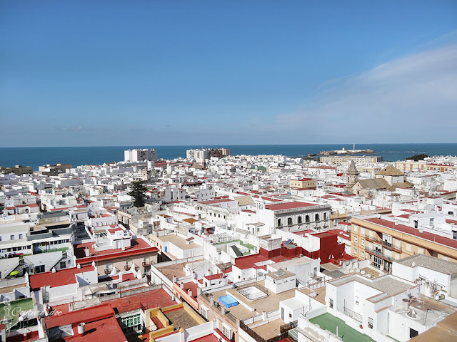 Miasto Kadyks widziane z góry