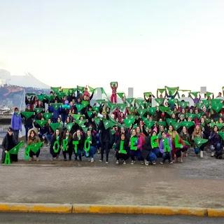 Pañuelazo por aborto en Ushuaia