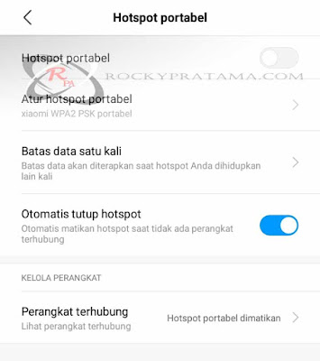 Fitur tethering android xiaomi