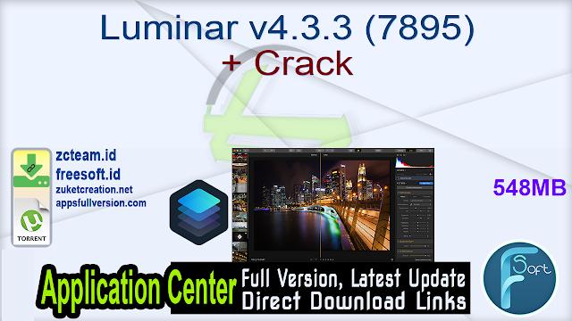 Luminar v4.3.3 (7895) + Crack