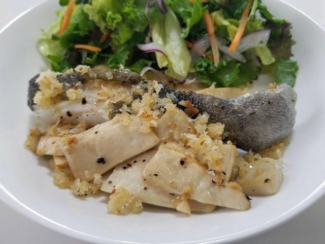 Cod w/ Mushrooms and Parmesan Breadcrumbs
