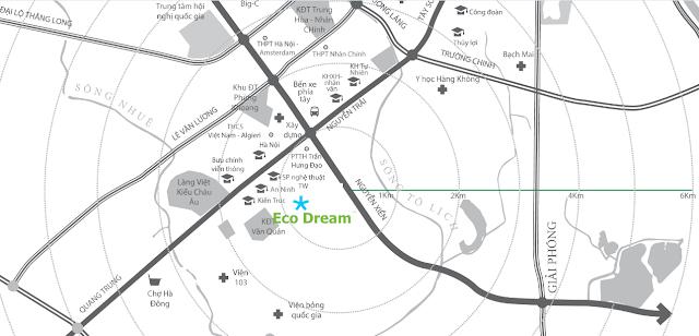 Vị trí đắc địa chung cư Eco Dream City