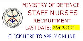 Nursing jobs Ministry of defence