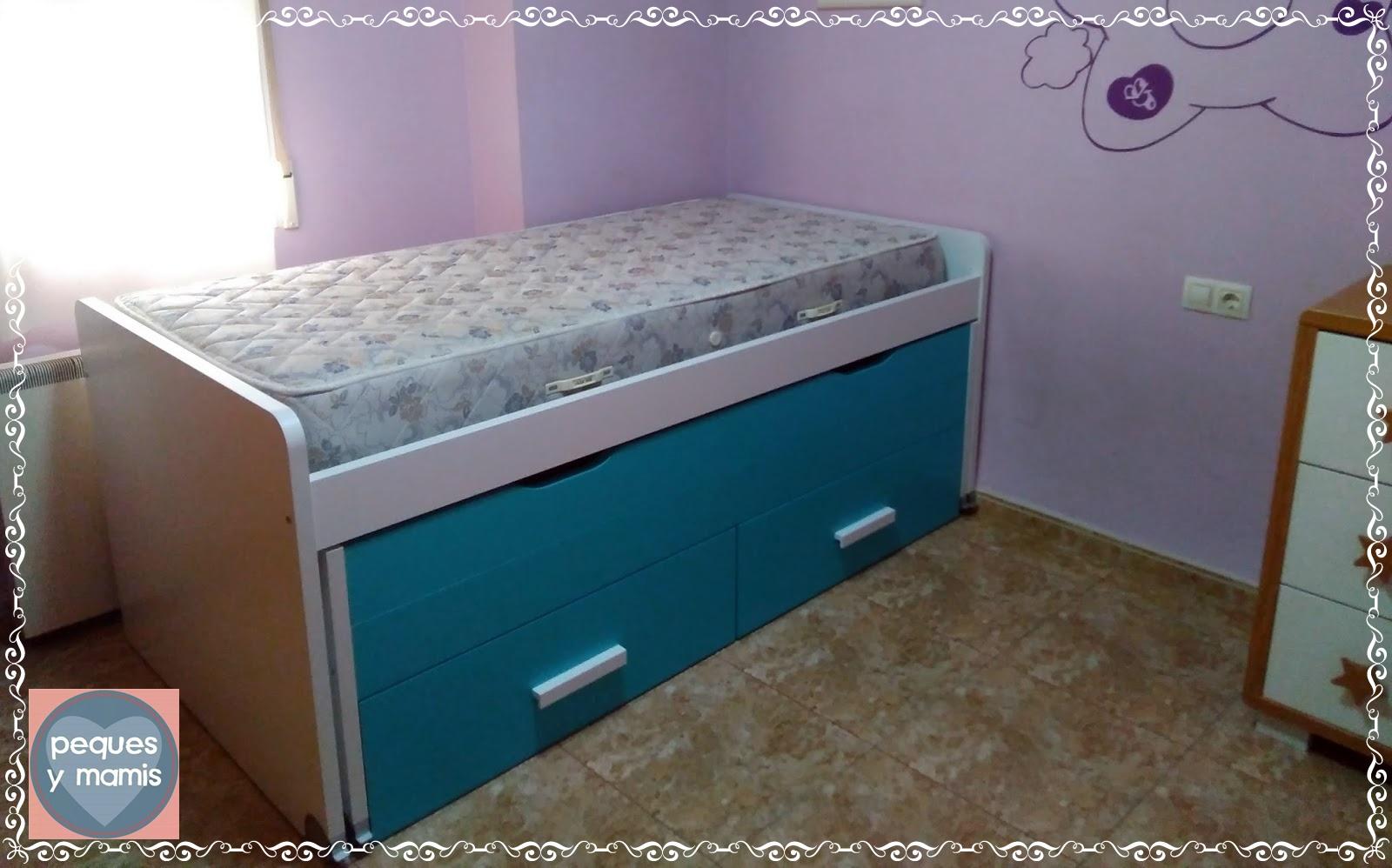 Pequesymamis cama compacta para ni os de muebles miguel for Muebles miguel