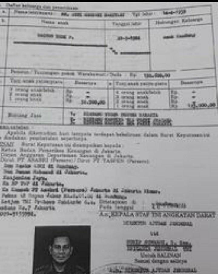 Surat yang Membungkam Tudingan Prabowo Dipecat