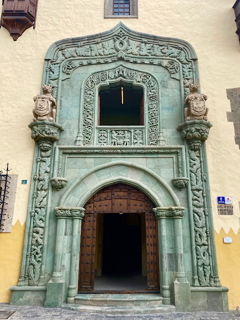 Doorway of Casa de Colon, Las Palmas, Gran Canaria, Spain