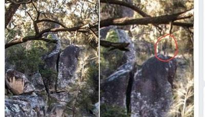 Panampakan diduga hantu di situs pembantaian kuno