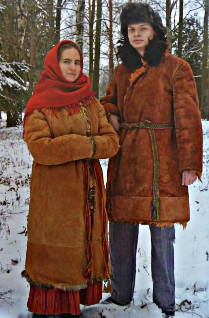 traditional winter overcoats from Belarus