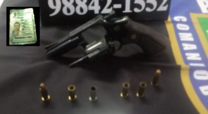 PM detém falso policial civil efetuando disparos de arma de fogo em via pública na zona leste