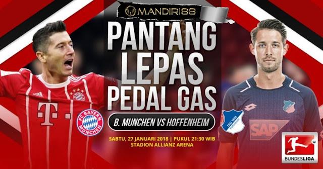 Prediksi Bayern Munchen Vs Hoffenheim , Sabtu 28 January 2018 Pukul 21.30 WIB