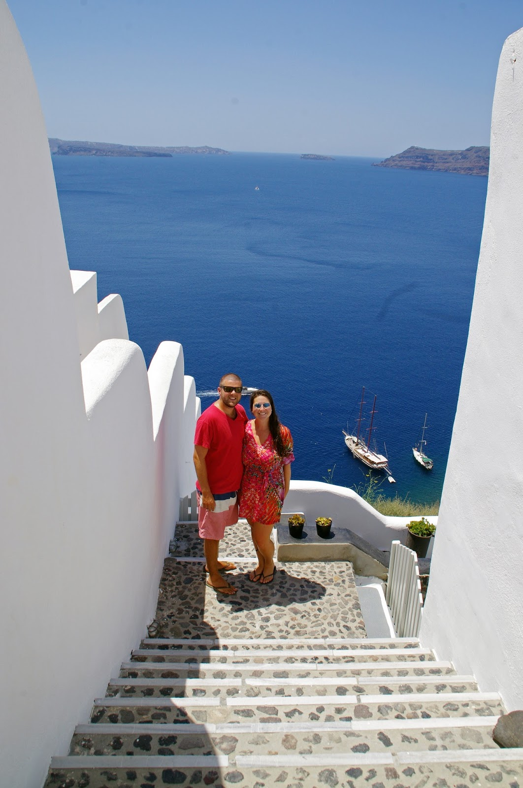 Couple at Nostos Apartments Oia Santorini